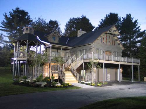 Extreme Makeover Custom Log Home - Residential New Home Construction - Aver Contracting