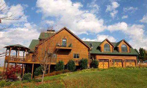 Hennessey Log Home - Residential New Home Construction - Aver Contracting