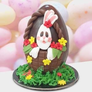 Σοκολατένιο Αυγό Κουνελάκι 700γρ - 25εκ