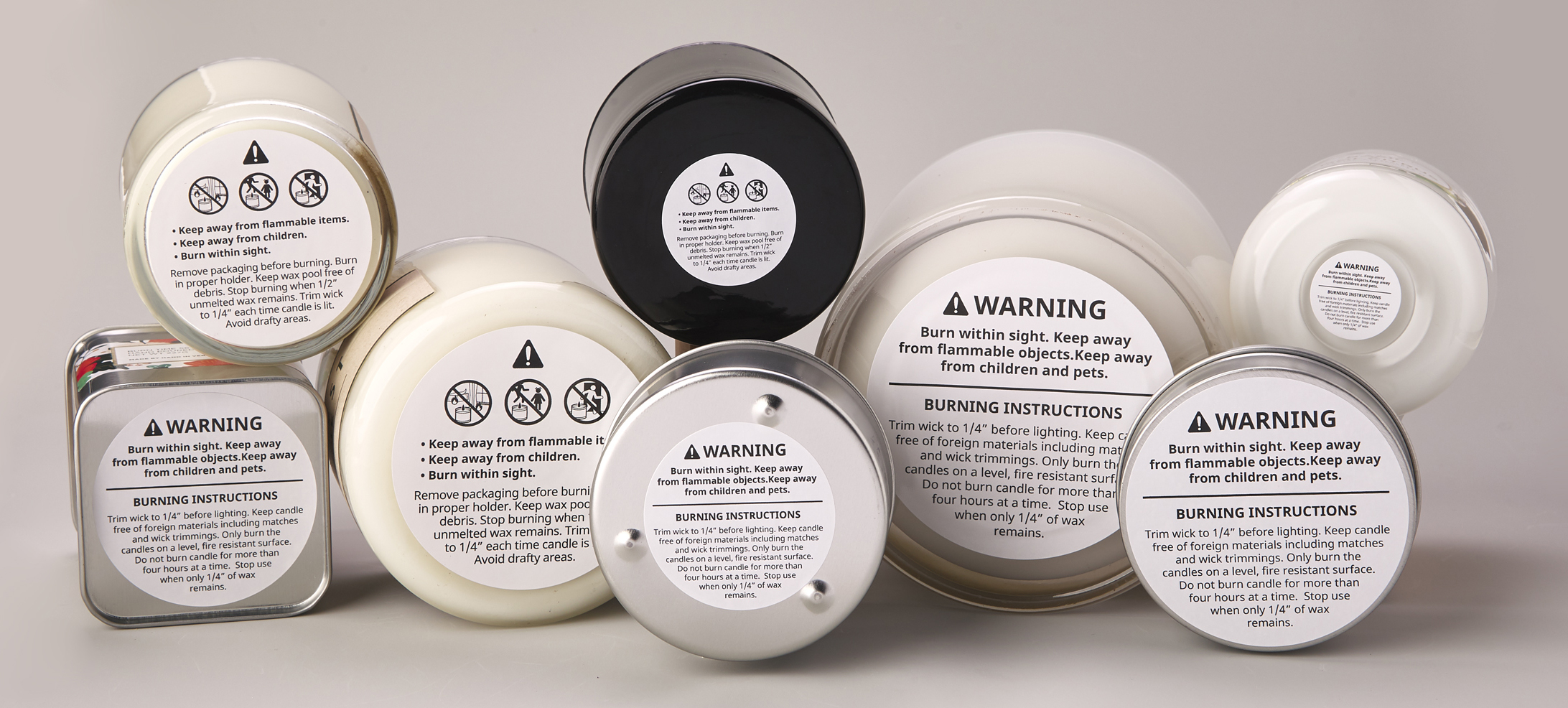 graphic relating to Free Printable Candle Warning Labels named Candle Caution Labels - Avery