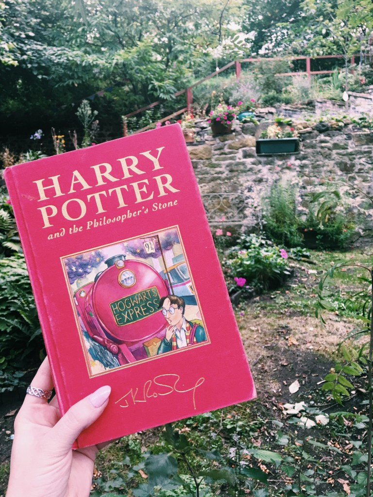 Nichole got first edition of Harry Potter and the Philospher's Stone while in Edinburgh