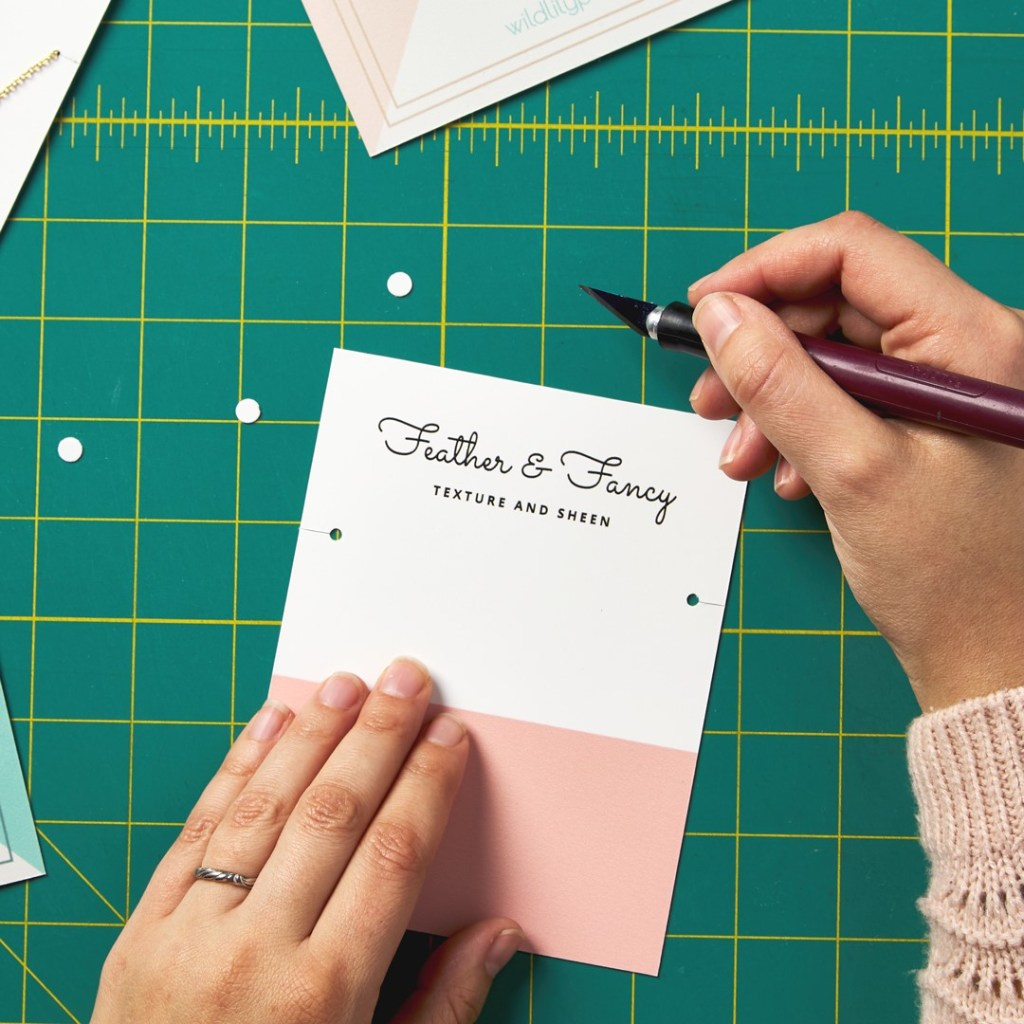 Make your own necklace display cards using these simple tips and Avery WePrint custom cards.