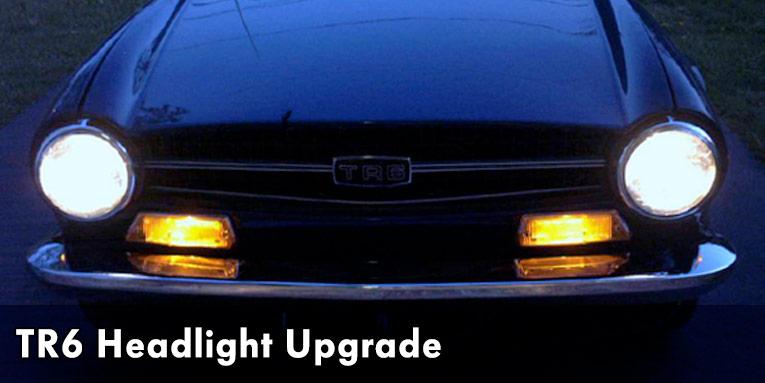 Wiring A Lighting Circuit Diagram Upgrading Triumph Tr6 Headlights Avery Motorsports
