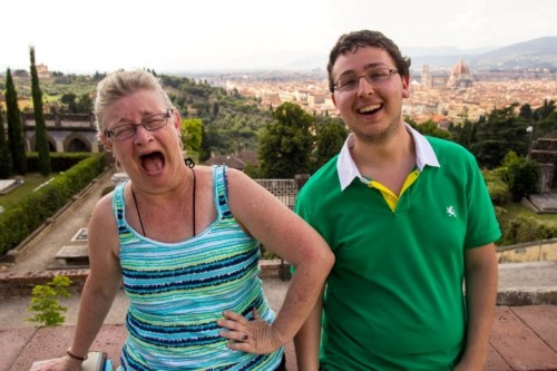 Top of San Miniato Zach and Mama 2