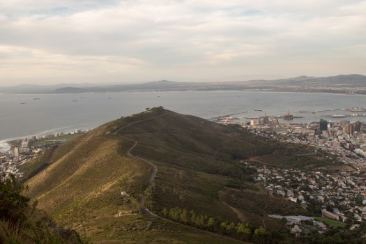 cape town lions head mountain road view