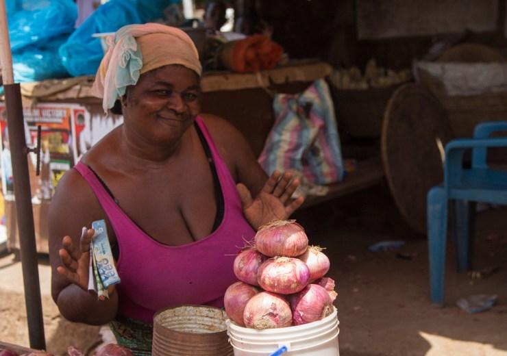 ghana malata market onion seller