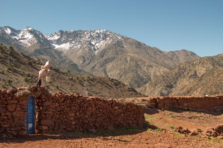 morocco atlas mountains scarecrow