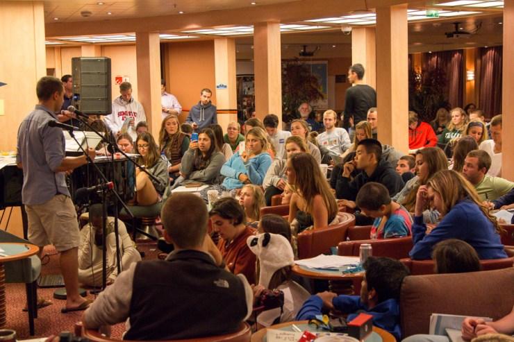 semester at sea open mic night