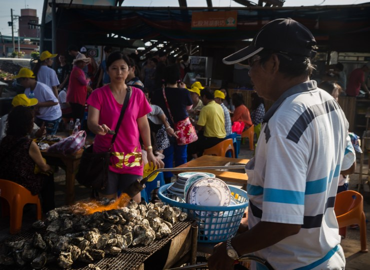 Qigu Lagoon Taiwan Grilled Oysters