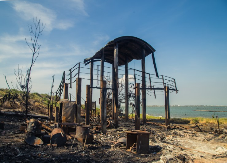 Tainan Beach Burned Lookout Point