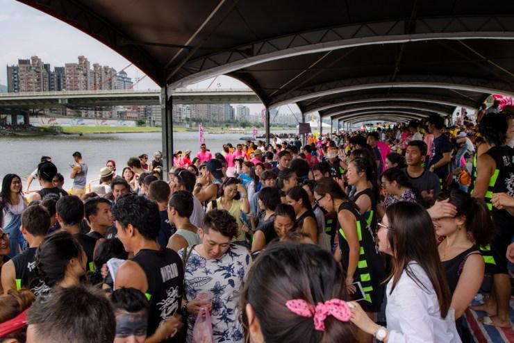 dragonboat festival dajia riverside park crowd