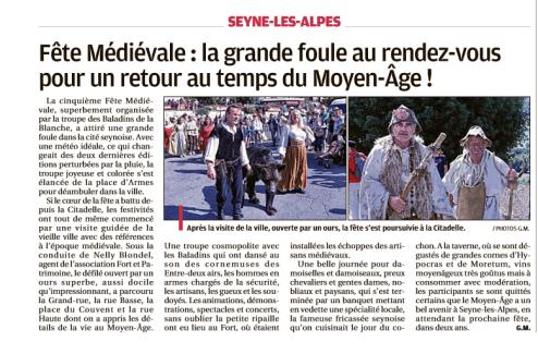 Fête medievale Seyne les Alpes