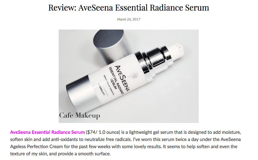 Cafe Makeup Essential Radiance Serum Review