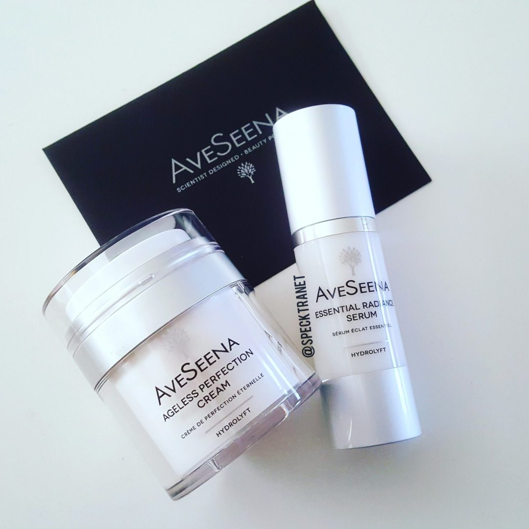 Speckra review AveSeena Ageless Perfection Cream Essential Radiance Serum Natural Skin Care