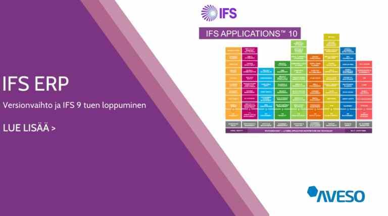 IFS ERP -versionvaihto ja IFS 9 tuen loppuminen