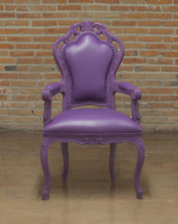 Purple Armchair Glamour 701 Accent Seating