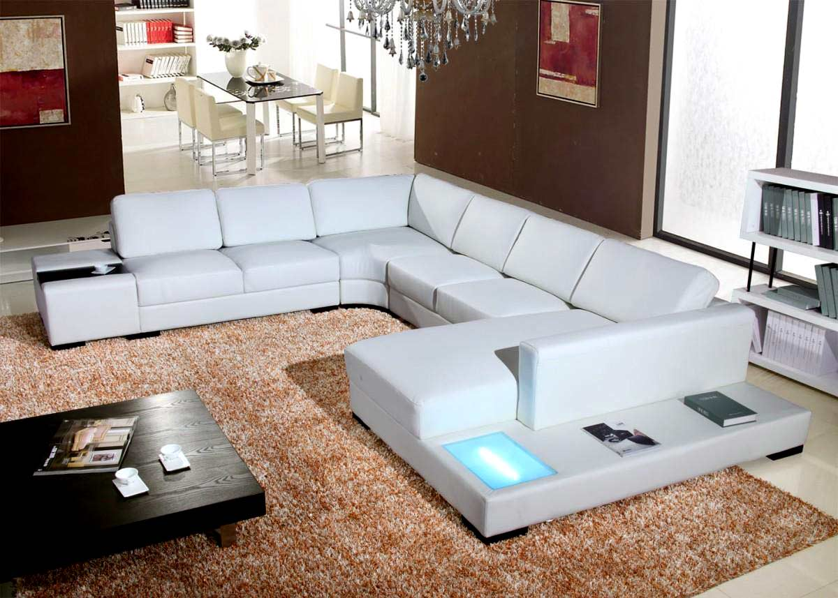 t35 mini modern white leather sectional sofa claremore wayfair sectionals