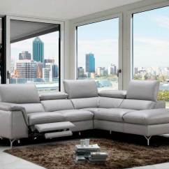 White Leather Sectional Sofa With Recliner King Podcast Review Power Italian Nj Velia Sectionals