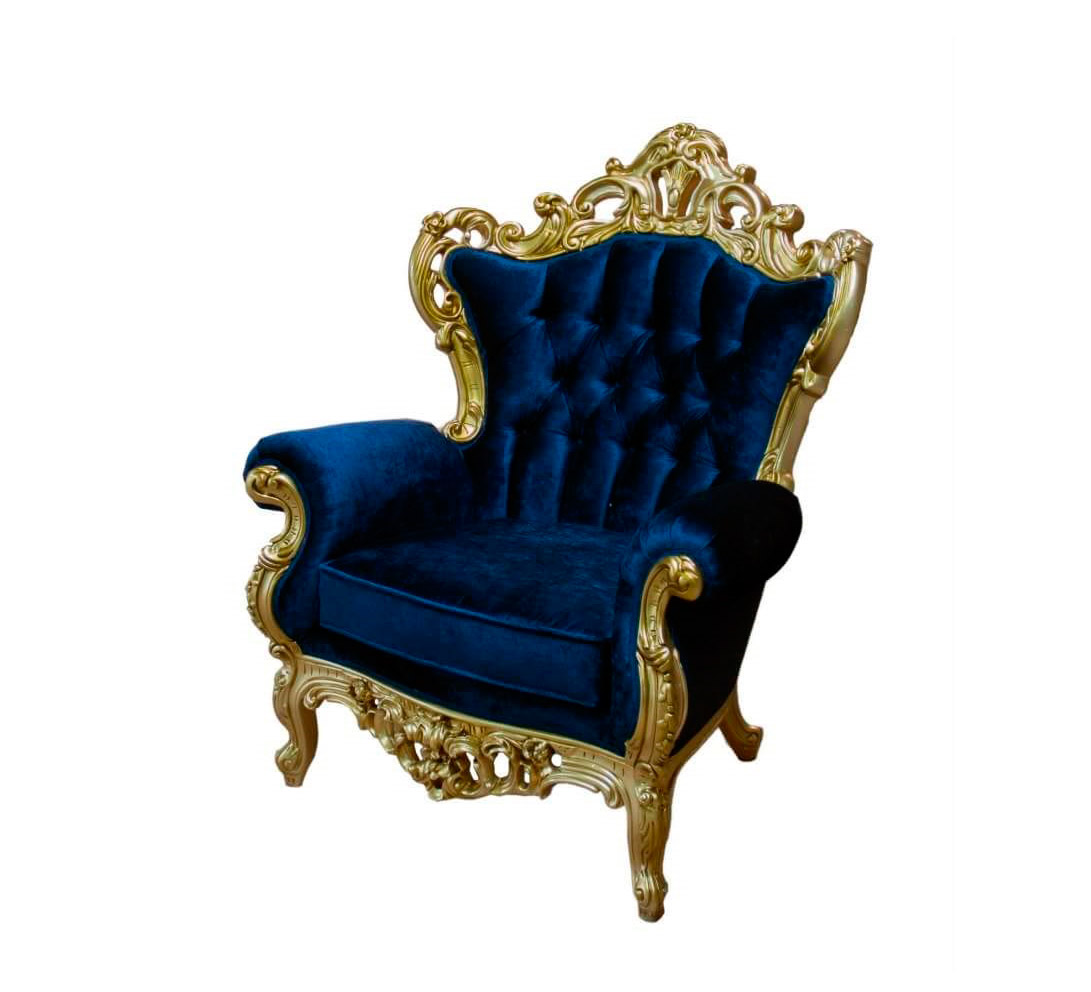 gold velvet chair pier one wicker chairs marine blue provincial 146c