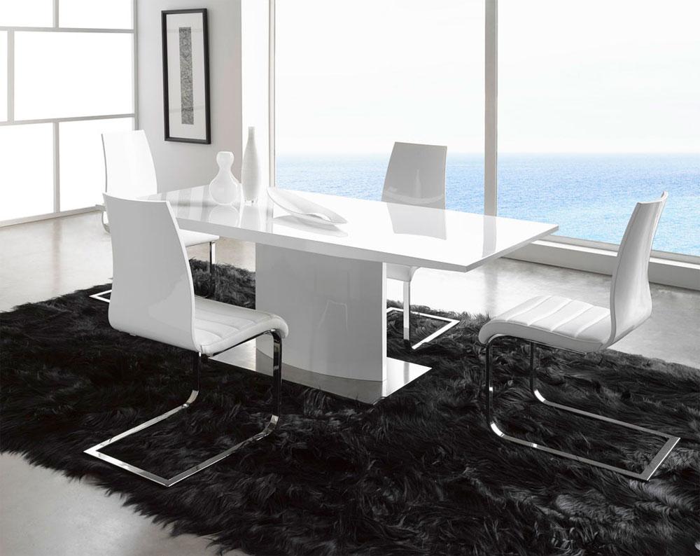 Modern White Table EF02 Modern Dining