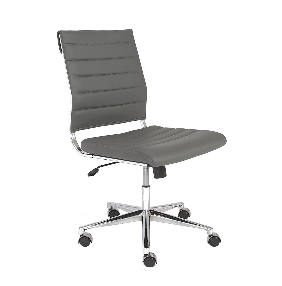 gray accent chair with arms fishing amazon axel low back armless office | chairs