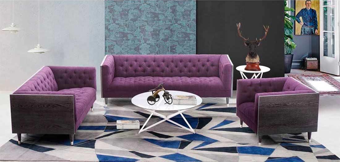 purple accent chair novelty christmas covers modern sofa arl beartiz   fabric sofas