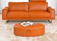 Modern Orange Leather Sofa EF531 | Leather Sofas