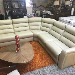 Sectional Reclining Leather Sofas Italian Kuka Sofa Recliner Beige