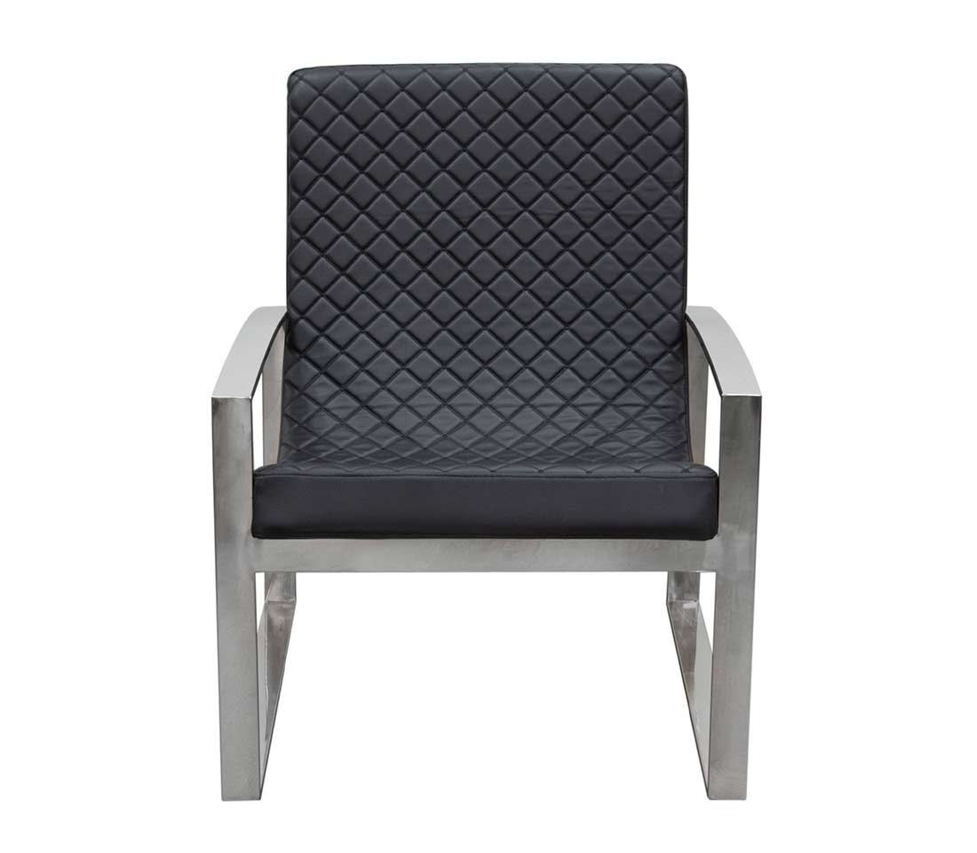Black Leather Accent Chair DS Noble  Accent Seating