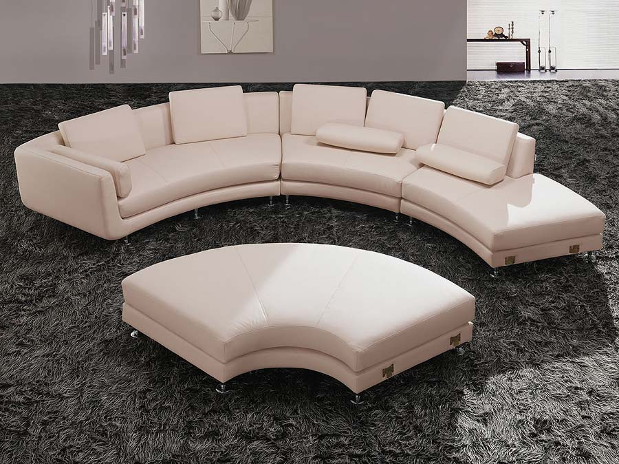 Modern Round Leather Sectional sofa A94  Leather Sectionals