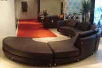 Modern Round Leather Sectional sofa A94 | Leather Sectionals