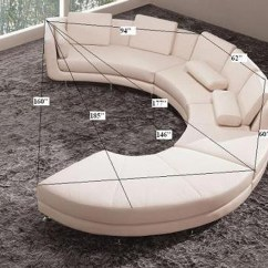 Curved Sectional Sofa Leather Queen Beds Perth Modern Round A94 Sectionals