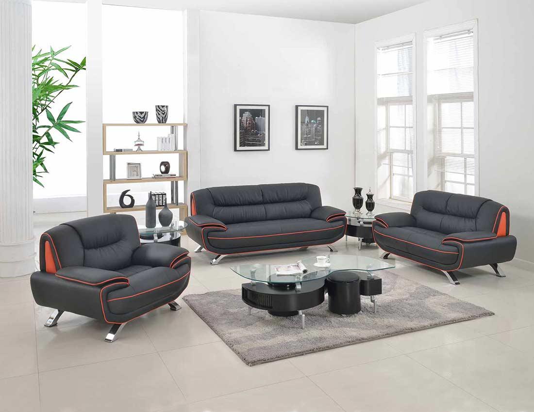 modern black leather sofa sofaer capital hong kong gu 405 sofas