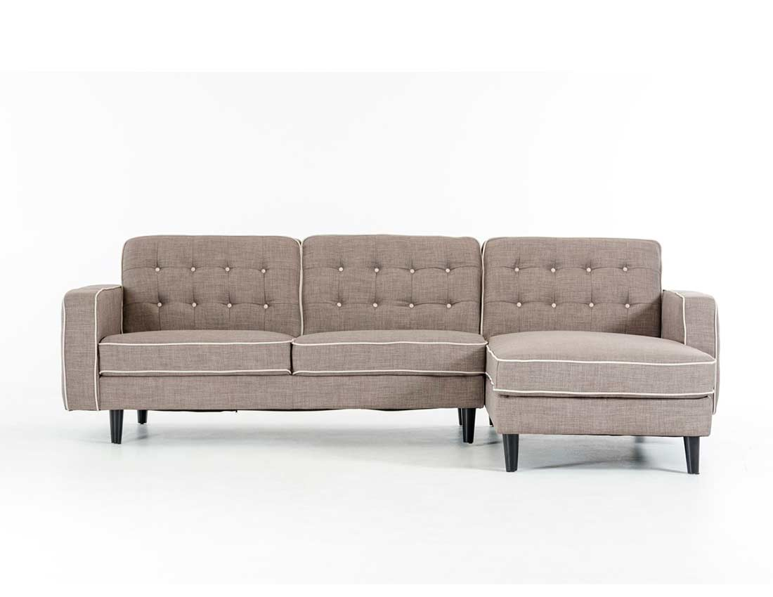 contemporary gray fabric sofa faux leather grey sectional