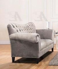 Silver Fabric Sofa Set AE604 | Fabric Sofas