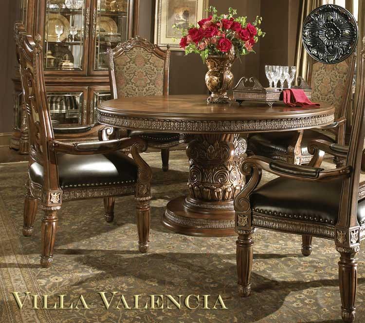 Villa Valencia Round Table Dining By Aico Aico Dining Room Furniture