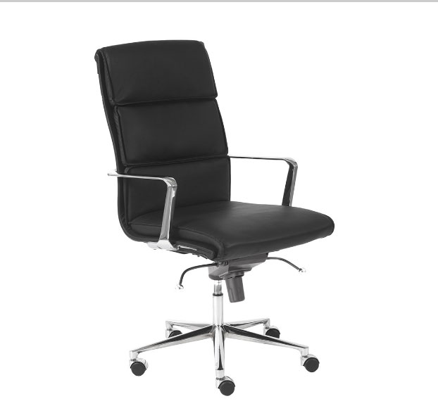 white leather modern office chair director covers ebay lee black   chairs