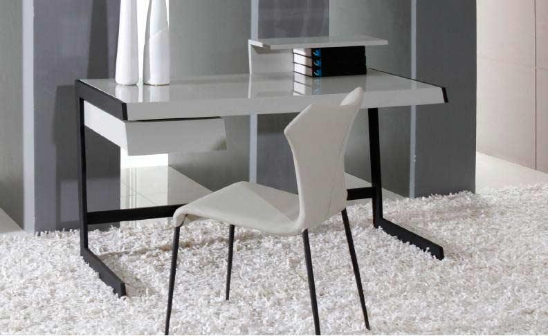 Modern Grey Lacquer Office Desk VG714  Desks
