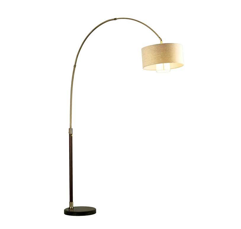 Pecan Arc Floor Lamp NL178  Floor  table