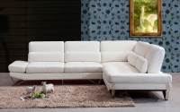 White Sectional Leather Sofa Modern White Leather