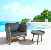 Outdoor Cement Side Table Z756   Contemporary