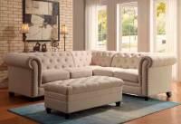 Oatmeal Sectional Sofa CO 222   Fabric Sectional Sofas