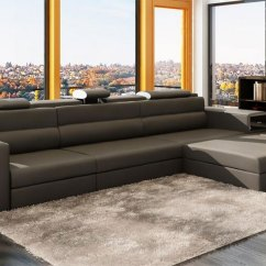 3 Piece White Leather Sofa Set Canvas Slipcovers Grey Sectional Polaris Mini | Sectionals