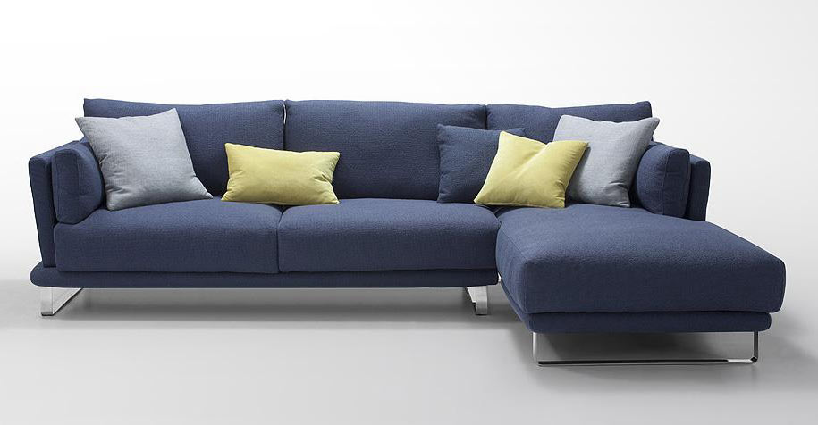 sunbrella sectional sofa indoor credit modern dark blue fabric - lucas | ...