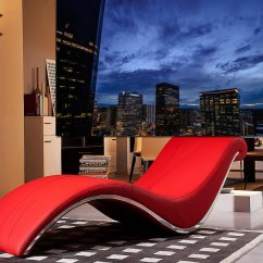 Red Lounge Chair Rubber Wood Dining Chairs Vg Wave Leatherette Accent Seating