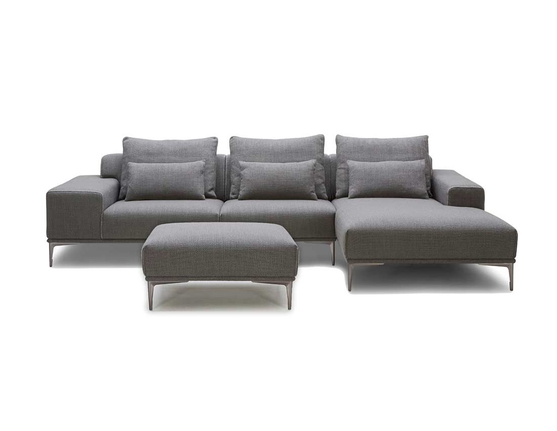 sofa 4 seater best fabric for with cats grey sectional ottoman vg638 | ...