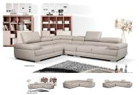 Modern Gray Leather Sectional Sofa EF119