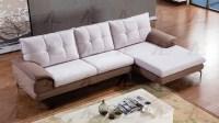Gray Microfiber Sofa Sectional AE366 | Fabric Sofas