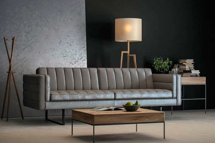 black leather chair and a half chairs sitting area crossword top grain orson sofa by moroni | sofas