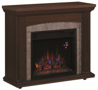 Espresso Rolling fireplace Chesterfield | TV Stands